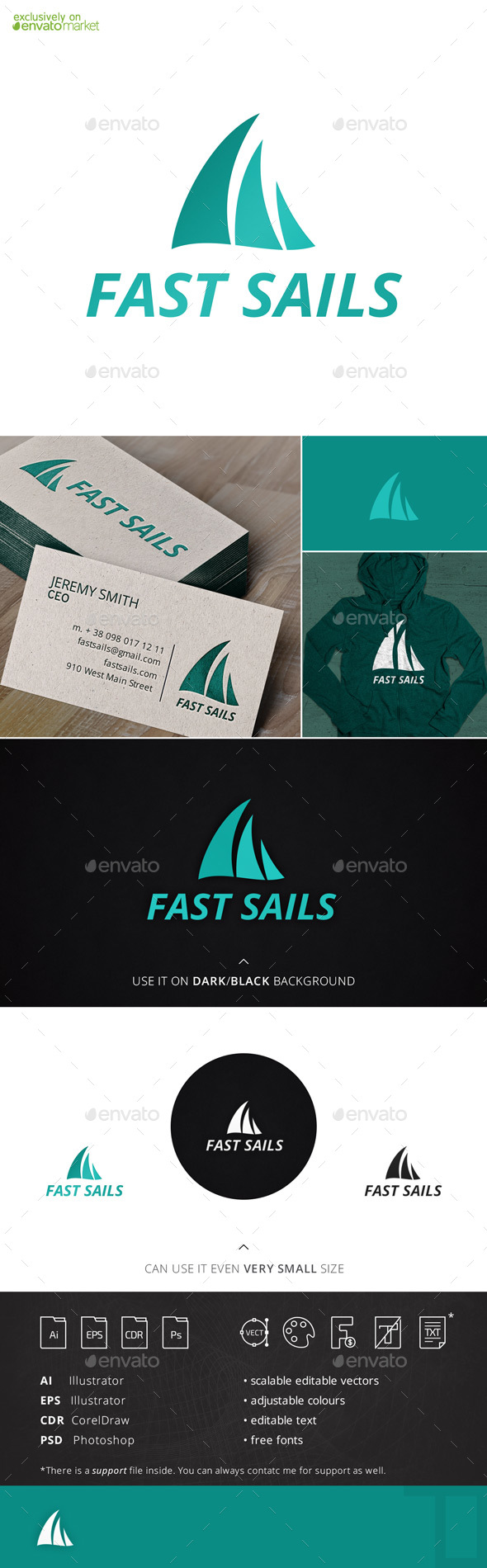 Fast Sails Marine Logo Template - Objects Logo Templates