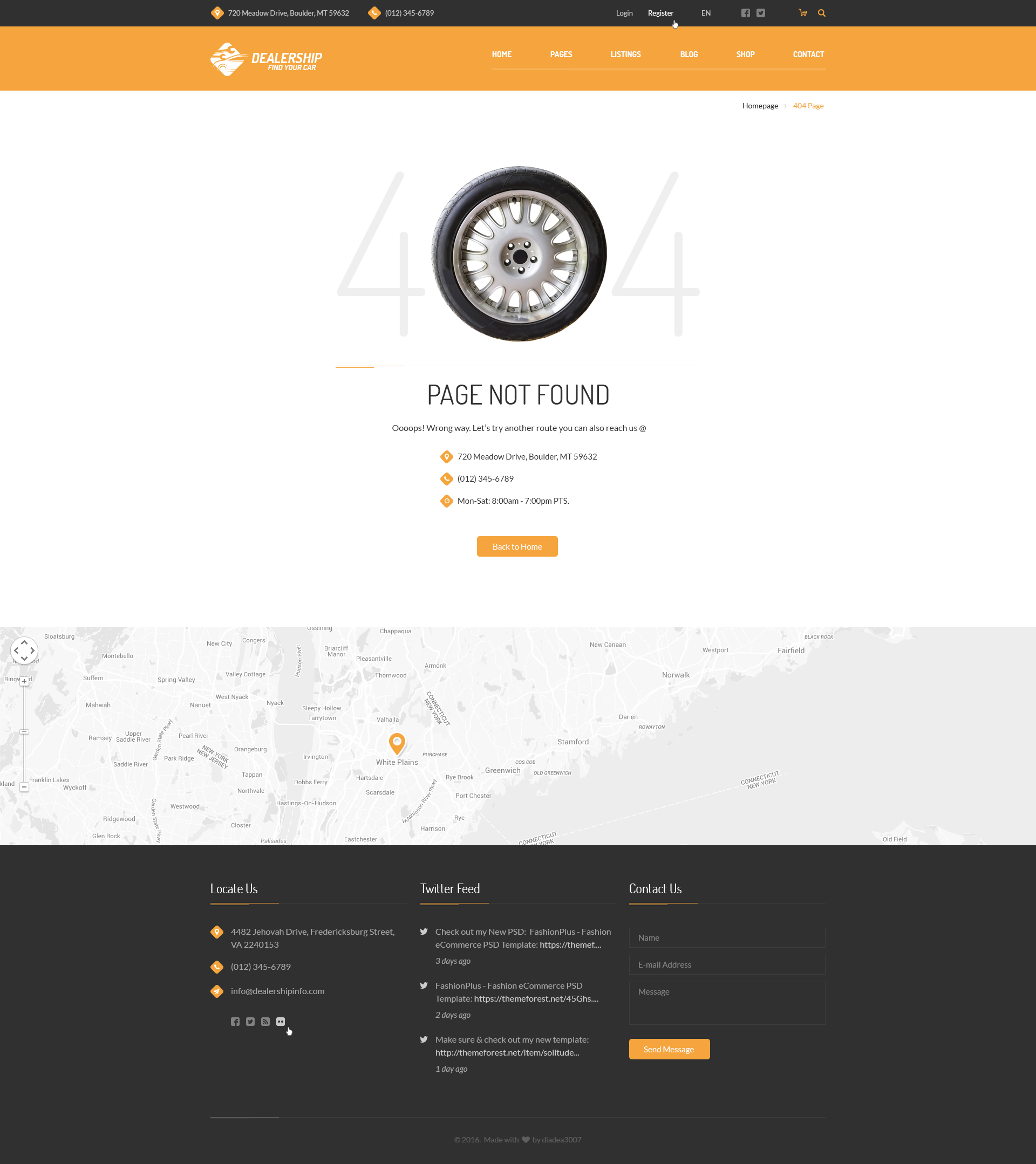 Dealership - Car, Mechanic & Rental PSD Template