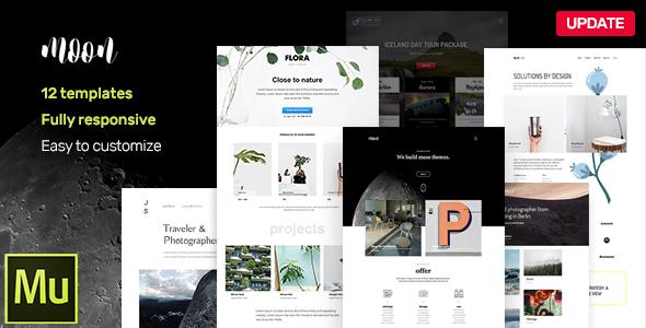 moon - Responsive Portfolio Adobe Muse Templates - Creative Muse Templates