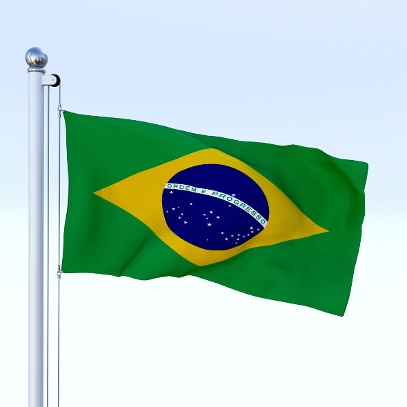 Animated Brazil Flag - 3DOcean Item for Sale