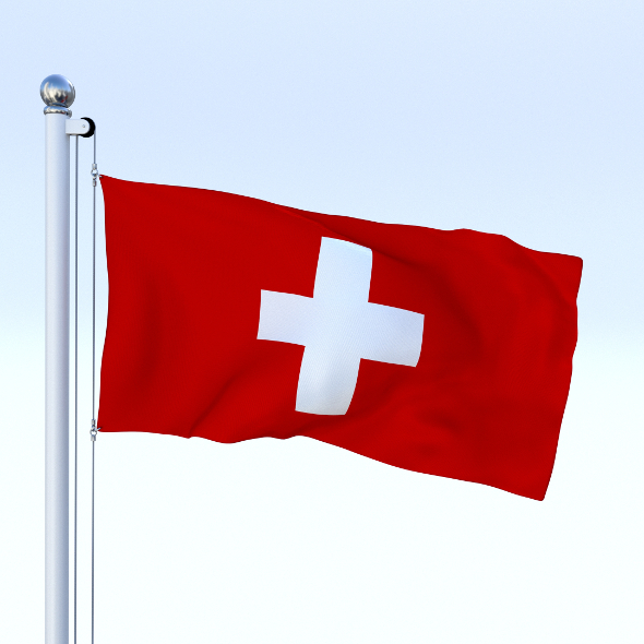 Animated Switzerland Flag - 3DOcean Item for Sale