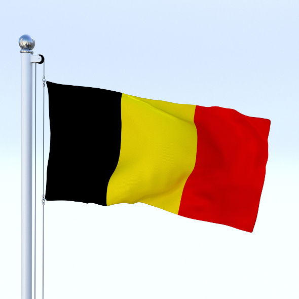 Animated Belgium Flag - 3DOcean Item for Sale