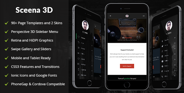 Sceena 3D Mobile | Mobile Template - Mobile Site Templates