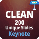 Clean Keynote Presentation Template - GraphicRiver Item for Sale
