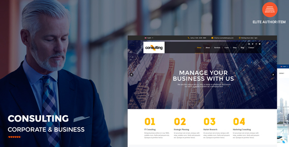 Consulting - Corporate and Business WordPress Theme - Corporate WordPress
