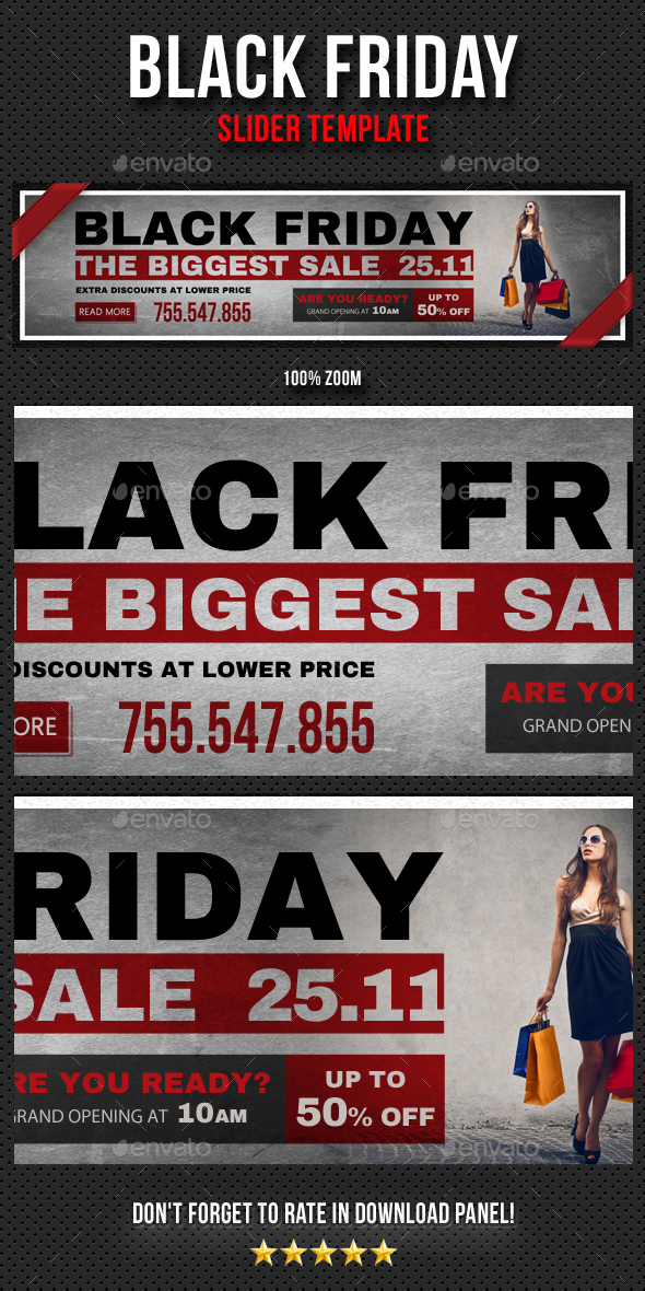 Black Friday Slider V01 - Sliders & Features Web Elements