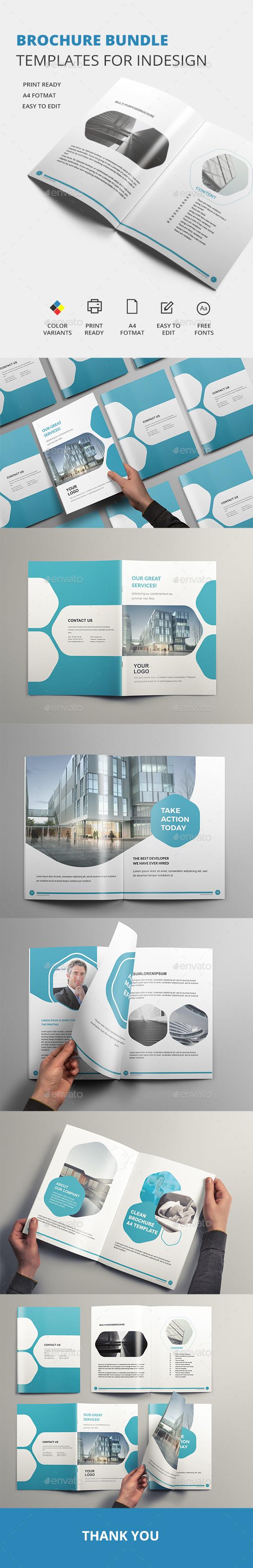 Brochure Bundle - Templates for Indesign - Brochures Print Templates