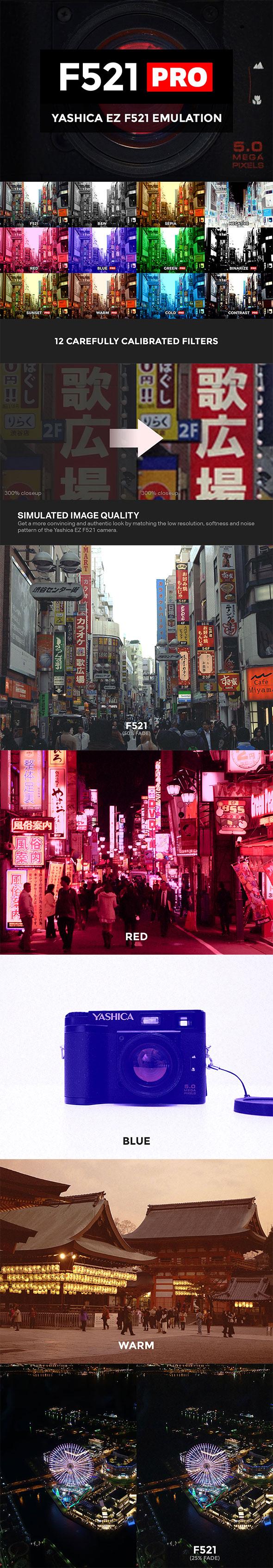 Yashica EZ F521 Emulation - Photo Effects Actions