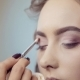 Make Up Artist Doing Professional Eye Makeup Of Young Woman - VideoHive Item for Sale