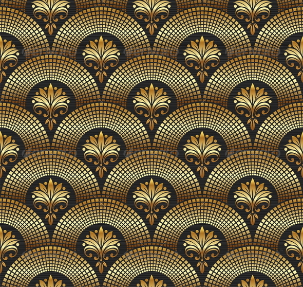 Seamless Ornate Golden Pattern - Decorative Vectors