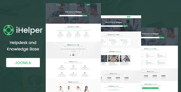 iHelper – Helpdesk and Knowledge Base Joomla Template