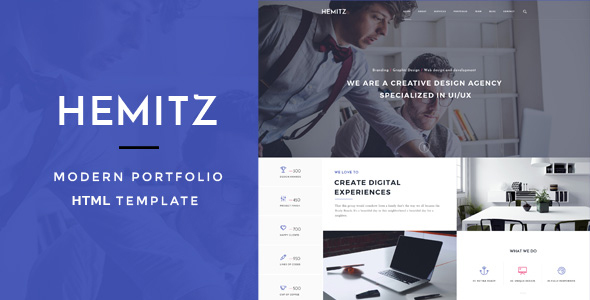 Hemitz – Minimal Portfolio & Photography HTML Template