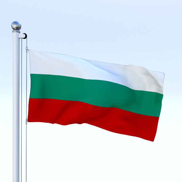 Animated Bulgaria Flag - 3DOcean Item for Sale