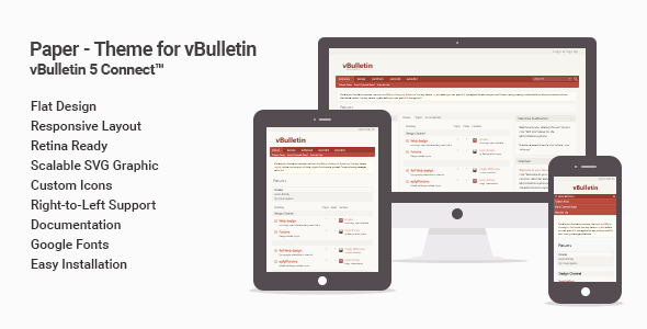 Download Paper - Flat Theme for vBulletin 5 Connect nulled version