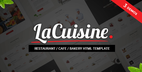 LaCuisine - Restaurant HTML Theme - Business Corporate