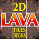 Lava Game Backgrounds Tiles and Decals - GraphicRiver Item for Sale