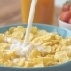 Milk Pouring Into Cereal Bowl - VideoHive Item for Sale