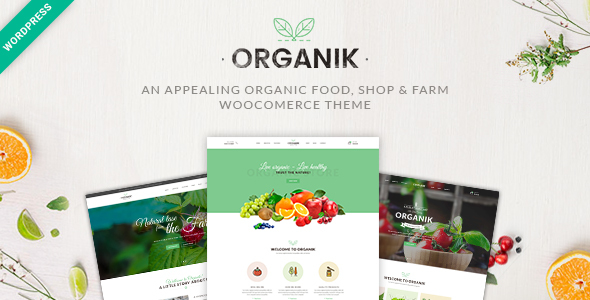 Organik – An appealing organic food, shop & farm Woocomerce theme