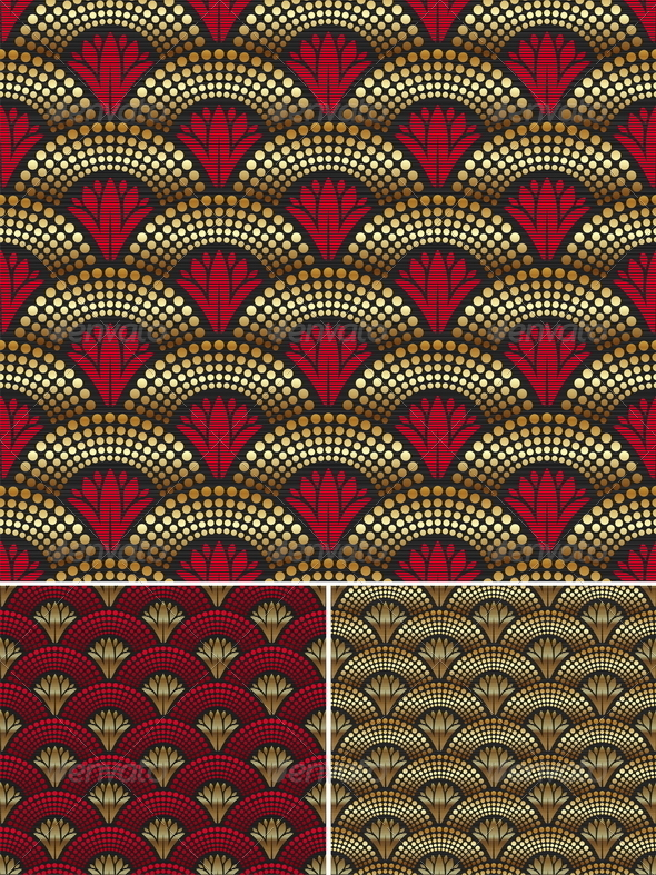 Seamless Decorative Golden Pattern - Decorative Vectors