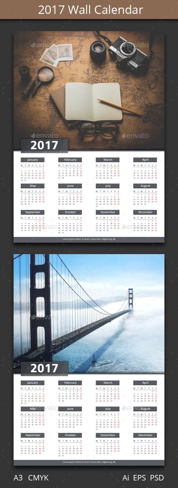 2017 Calendar - Calendars Stationery