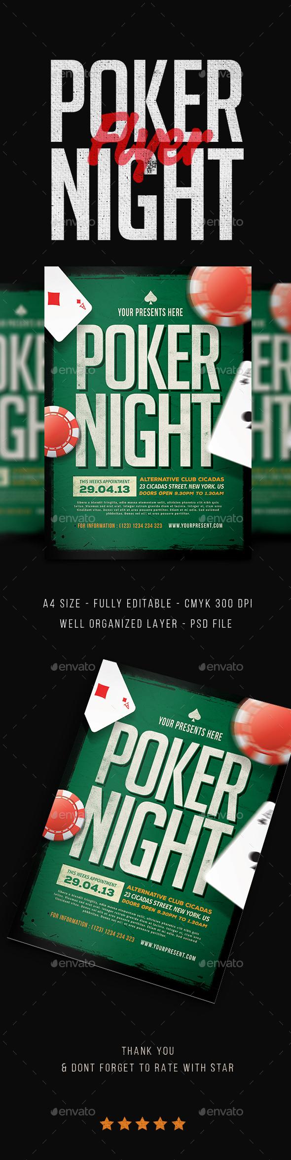 Poker Night Flyer - Events Flyers