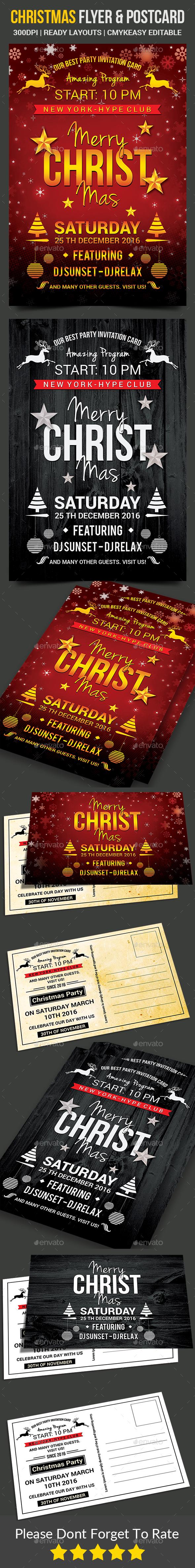 Christmas Flyer / Postcard - Events Flyers