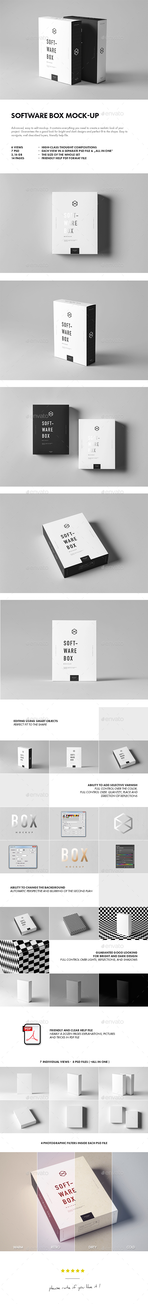 Software Box Mock-up - Miscellaneous Packaging