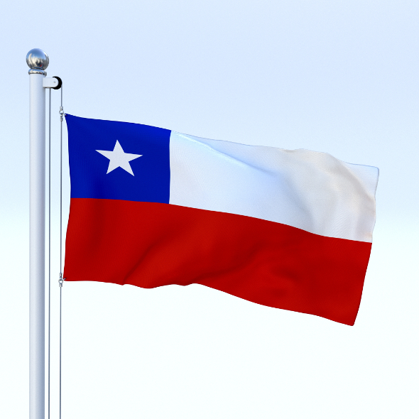 Animated Chile Flag - 3DOcean Item for Sale
