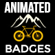 Animated Bike Rent Label and Badges - VideoHive Item for Sale