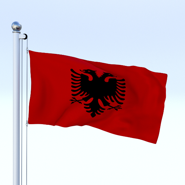 Animated Albania Flag - 3DOcean Item for Sale