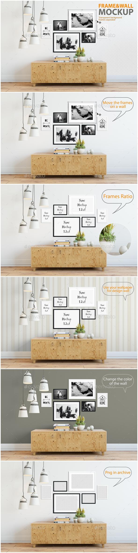 Frame & Wall Mockup 04 - Product Mock-Ups Graphics