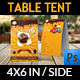 Cake Shop Table Tent Template Vol.2 - GraphicRiver Item for Sale