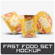 Instant Food Packages Mock-Up Bundle - GraphicRiver Item for Sale