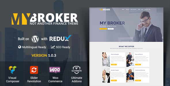 My Broker - Consulting Business and Finance WordPress Theme - Business Corporate