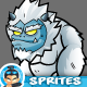 Yeti  Monsters 2D Game Chracter Sprites 270 - GraphicRiver Item for Sale