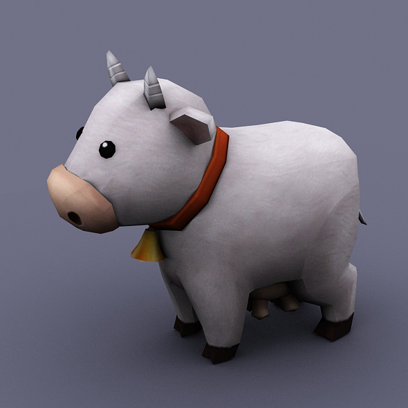 funny cow white - 3DOcean Item for Sale