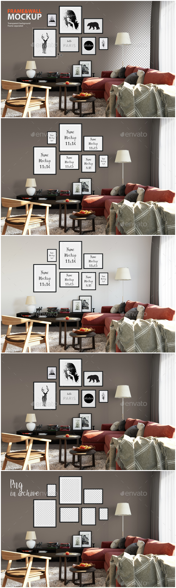 Frame & Wall Mockup 02 - Product Mock-Ups Graphics