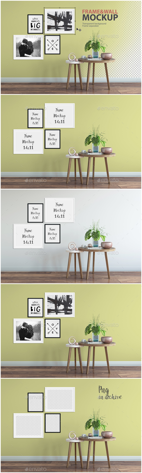 Frame & Wall Mockup 03 - Product Mock-Ups Graphics