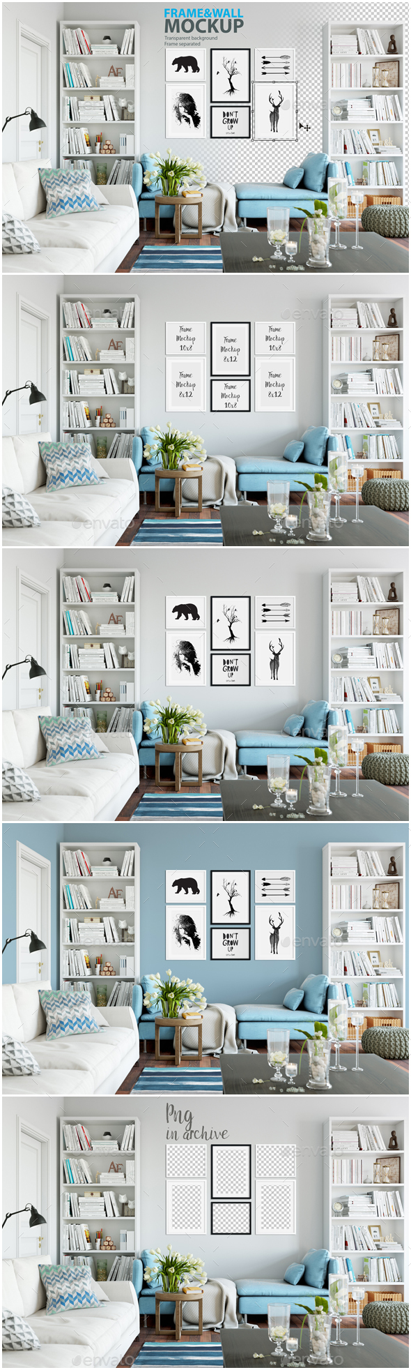 Frame & Wall Mockup 05 - Product Mock-Ups Graphics