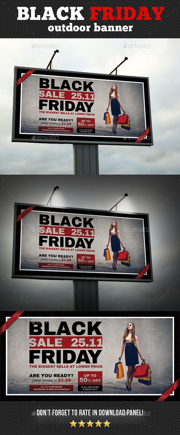 Black Friday Outdoor Banner Template - Signage Print Templates