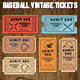 Vector Editable Baseball Tickets - GraphicRiver Item for Sale