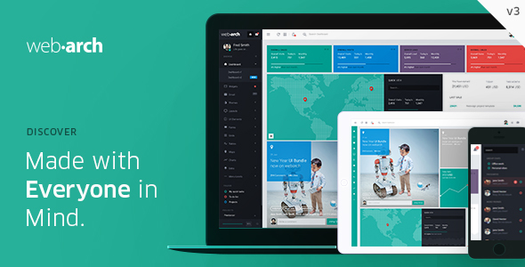 Webarch - Responsive Admin Dashboard Template Screenshot