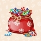 Cartoon Full Chiristmas Bag with Candy - GraphicRiver Item for Sale