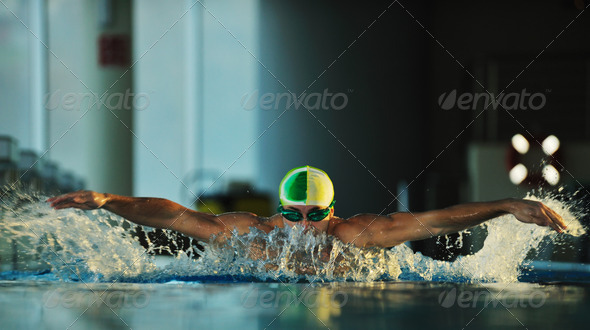 swimmer - Stock Photo - Images