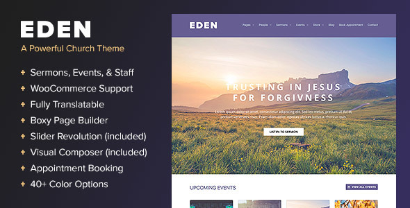 Eden - A WordPress Theme for Churches