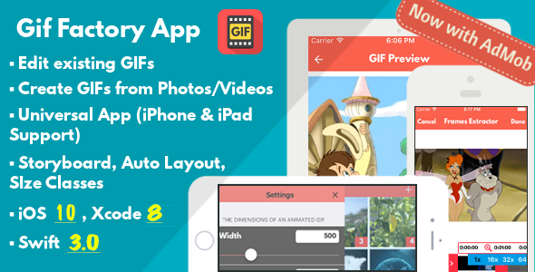 Gif Factory App - Full iOS Application - CodeCanyon Item for Sale