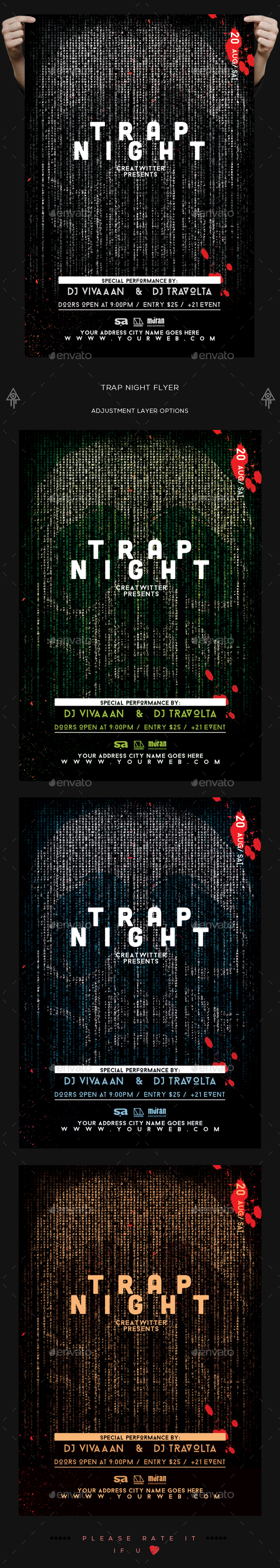 Trap Night Flyer - Clubs & Parties Events