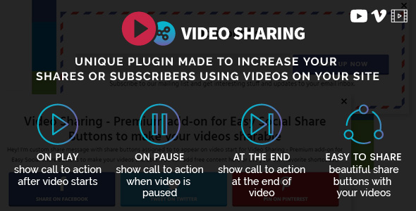 Video Sharing Add-on for Easy Social Share Buttons - CodeCanyon Item for Sale