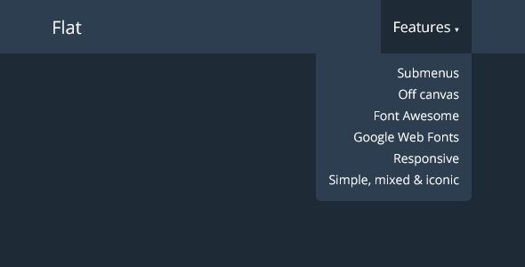Flat – Bootstrap Responsive Navbar