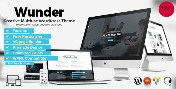 Wunder - Creative Multiuse WordPress Theme - Creative WordPress